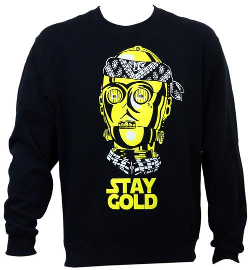 ALC Apparel Stay Gold Crewneck Sweater
