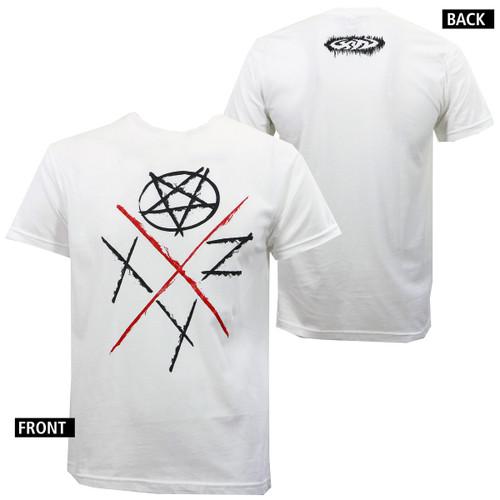 XYZ Clothing Pentagon Logo White T-Shirt