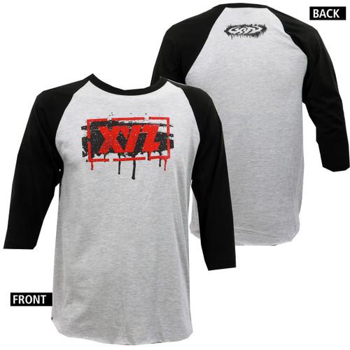 XYZ Clothing Mens Stencil Raglan T-Shirt