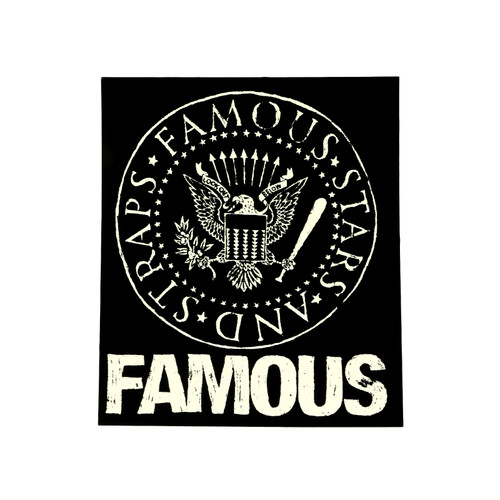 """Famous Stars & Straps White Presidential Seal 5"""" Sticker Decal"""
