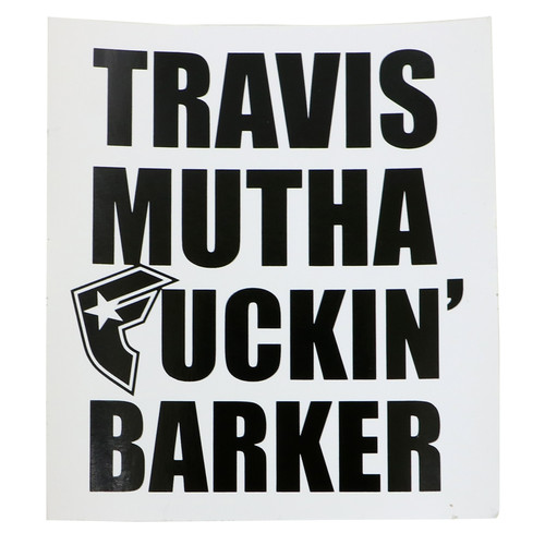 "Famous Stars & Straps Travis MF Barker 4"" Sticker Decal"