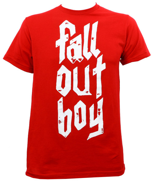 Fall Out Boy Metal Stack Slim-Fit T-Shirt Red