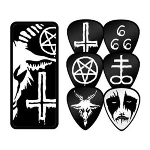 Black Metal  Tin 6 Picks