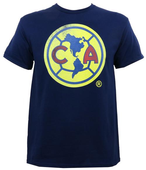 Club America Dirty Logo Slim-Fit T-Shirt Navy