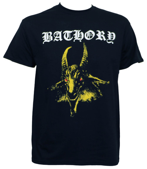 Bathory Yellow Goat Album Cover T-Shirt