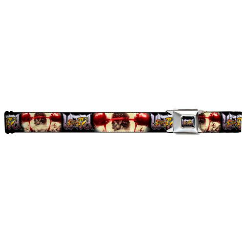 ULTRA STREET FIGHTER IV Ryu Prep Pose Logo Adjustable Seatbelt Belt