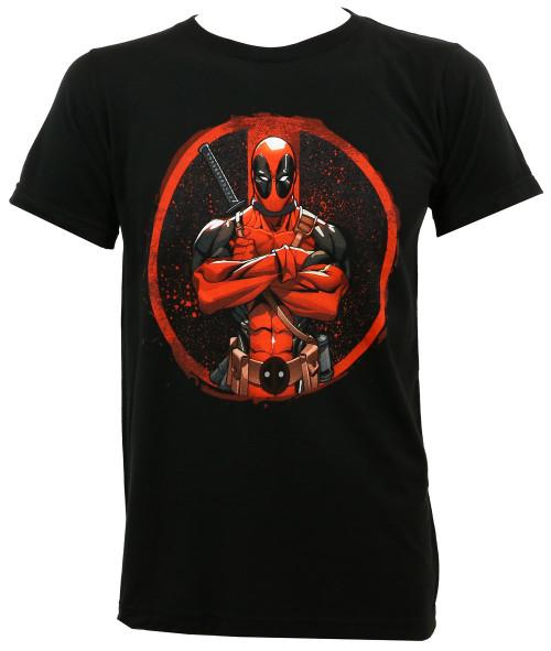 Marvel Comics Deadpool Crossed Slim Fit T-Shirt