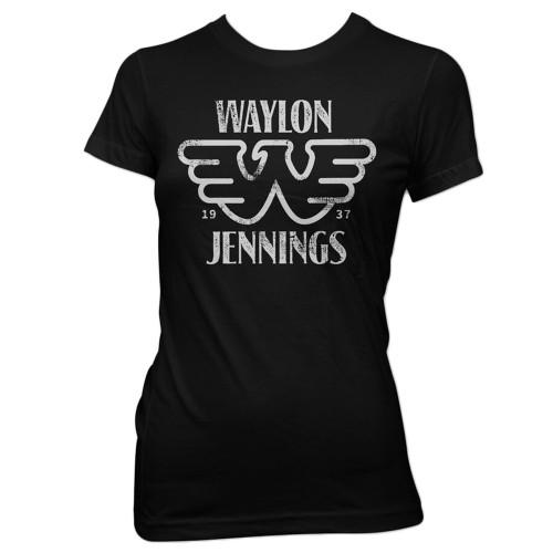 Waylon Jennings Junior's Est. T-Shirt Black