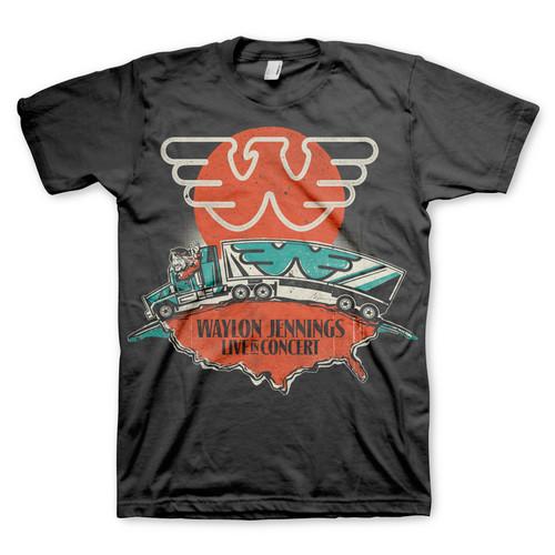 Waylon Jennings Live in Concert T-Shirt