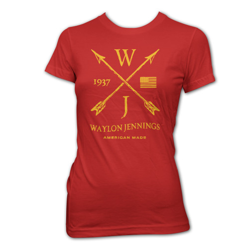 Waylon Jennings Junior's Arrows T-Shirt Red