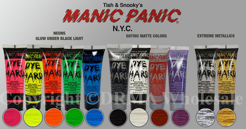 MANIC PANIC  Dye Hard Temporary Hair Color Styling Gel