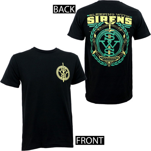 Sleeping With Sirens Green Crest Slim-Fit T-Shirt