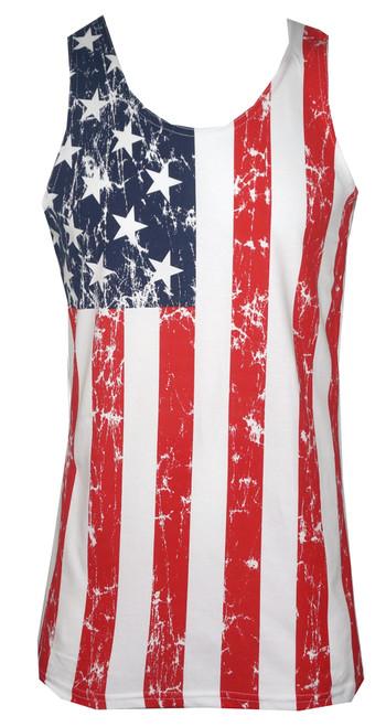 American Flag Distressed Men's Tank Top