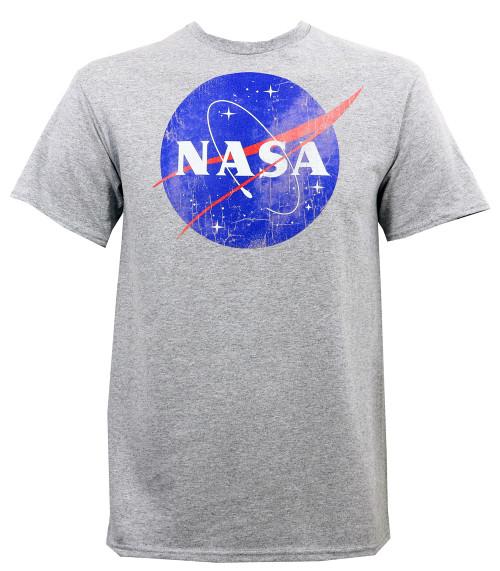 Nasa Distressed Logo Slim-Fit T-Shirt