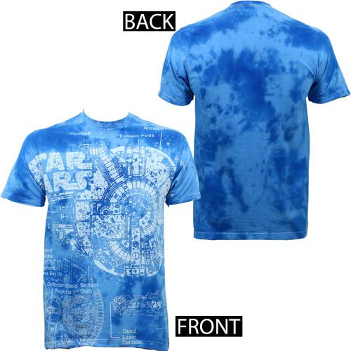 Star Wars Splatted Ships Cloud Wash Slim-Fit T-Shirt