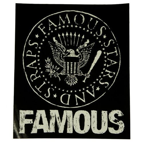 """Famous Stars & Straps White Presidential Seal 8"""" Sticker Decal"""