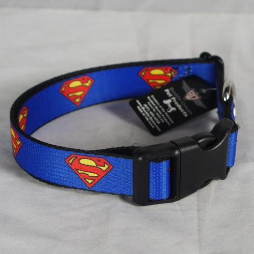 DC COMICS SUPERMAN Emblem shield Logo Blue Dog Pet Collar