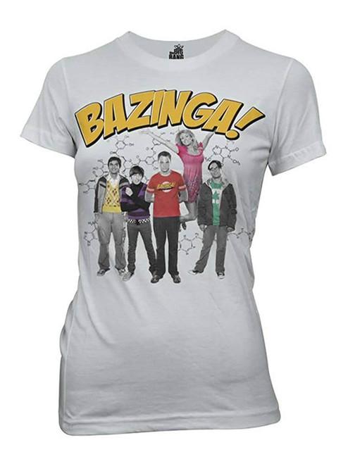 Big Bang Theory Junior's Bazinga! Group T-Shirt