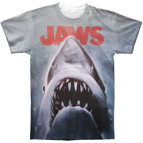 Jaws Movie Poster Sublimated Poly Blend T-Shirt