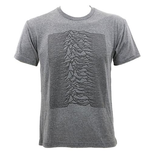 Joy Division Unknown Pleasures Slim Fit T-shirt Heather Grey