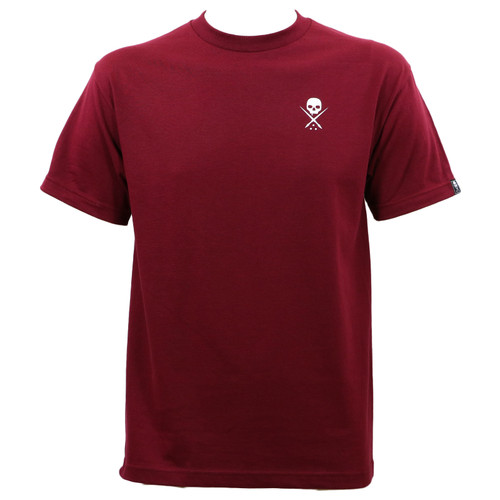Sullen Clothing Standard Issue T-Shirt Burgundy White