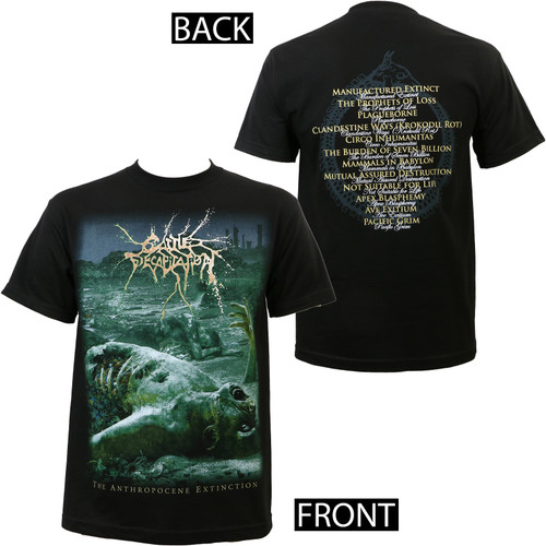 Cattle Decapitation Anthropocene Extinction T-Shirt