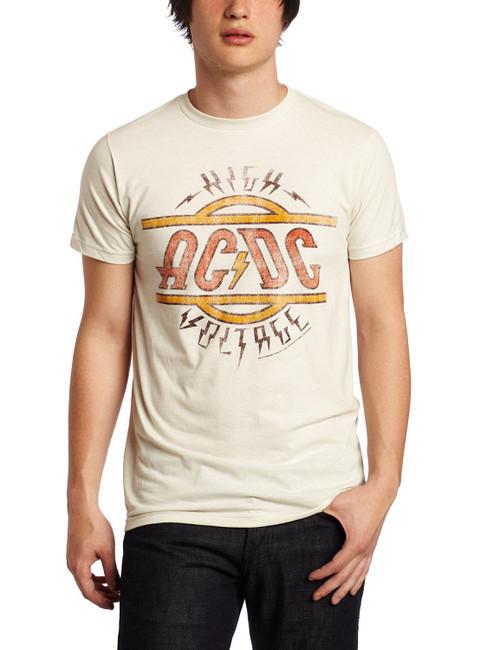 AC/DC High Voltage Distressed Slim Fit T-Shirt