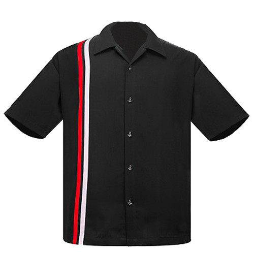 Steady Clothing V-8 Racer Button Up Bowling Shirt