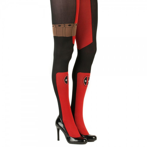 MARVEL Deadpool Suit Up Sheer Tights