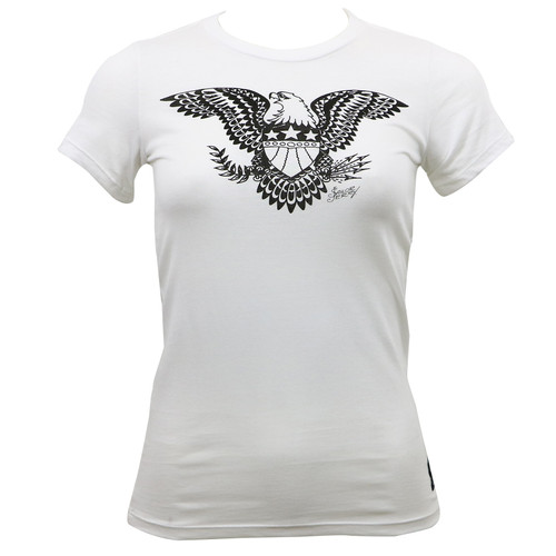 Sailor Jerry Junior's Bars Stars & Eagle T-Shirt White