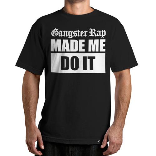 Famous Stars & Straps Gangster Rap T-Shirt Black