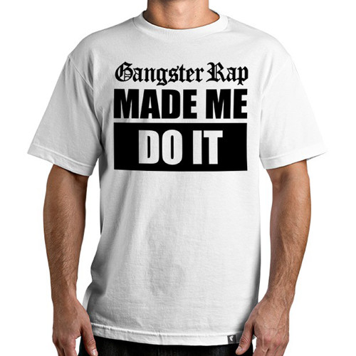 Famous Stars & Straps Gangster Rap T-Shirt White