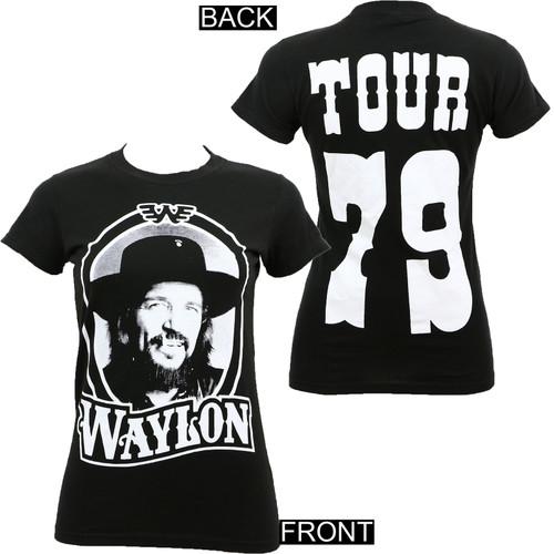 Waylon Jennings Junior's '79 Tour T-Shirt Black