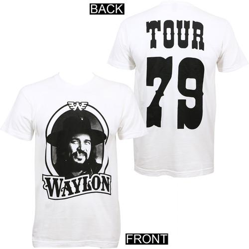 Waylon Jennings '79 Tour Slim-Fit T-Shirt White