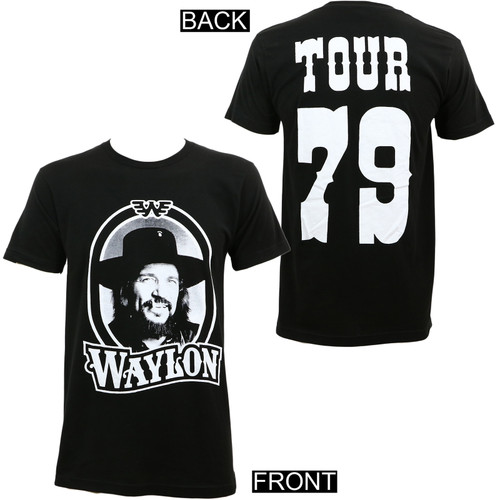 Waylon Jennings '79 Tour Slim-Fit T-Shirt Black
