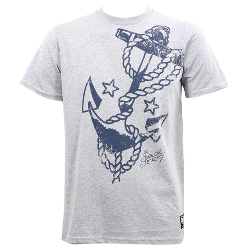 Sailor Jerry Vast Anchor Grey Heather Slim Fit T-Shirt