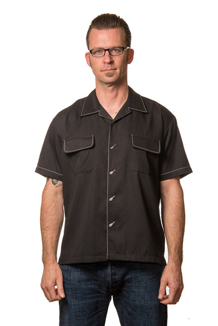 Steady Clothing Musician Button Up Bowling Shirt
