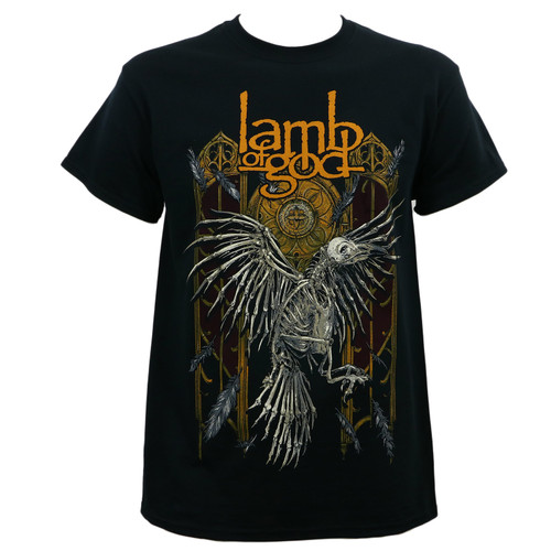LAMB OF GOD Band Crow Skeleton Black T-Shirt
