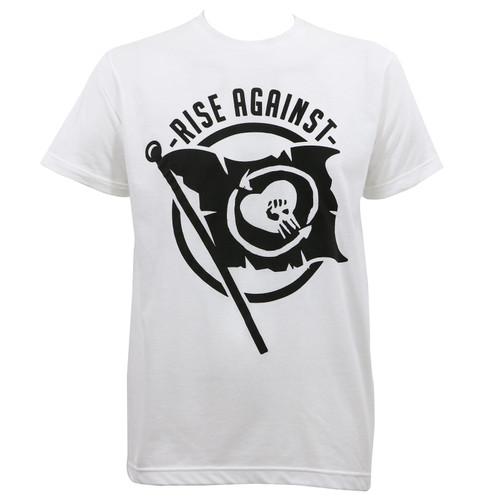 Rise Against Heartfist Flag Slim-Fit T-Shirt White