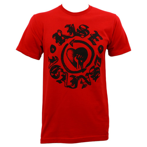 Rise Against Heartfist Stamp Slim-Fit T-Shirt Red