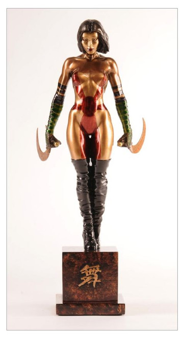 """Kabuki Faux Bronze Limited Edition Hand Painted 14"""" Statue 236/250"""