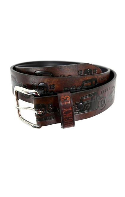 Lucky 13 Coupe 13 Leather Belt Antiqued