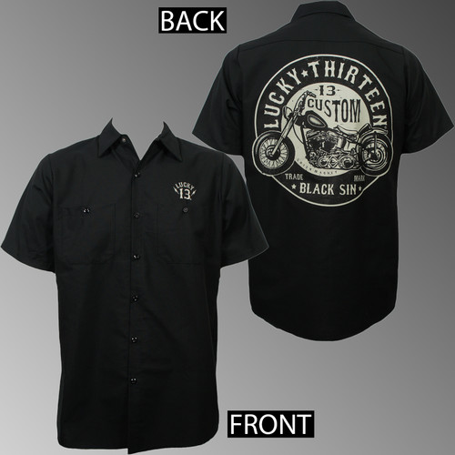 Lucky 13 Workshirt - Black Sin