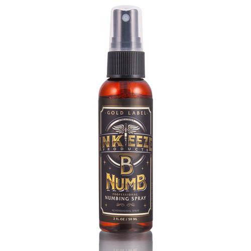 Ink-Eeze B-Numb Numbing Spray Gold Label 2 oz.