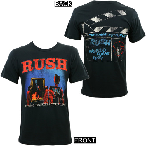 Rush Moving Pictures 1981 Tour Slim Fit T-Shirt