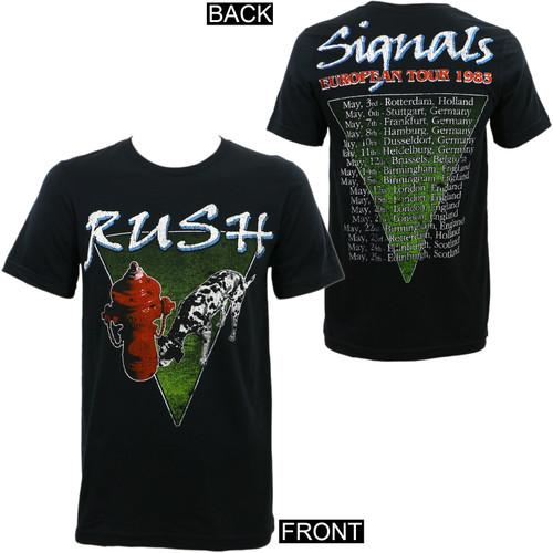 Rush Signals European 1983 Tour Slim Fit T-Shirt
