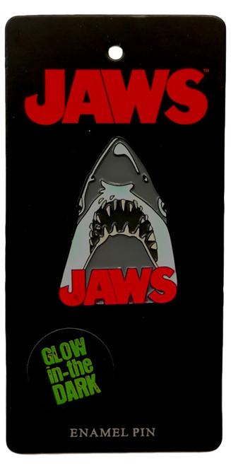 Universal JAWS Movie Poster Glow In The Dark Enamel Pin