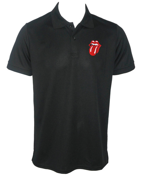 Rolling Stones Embroided Logo Polo T-shirt