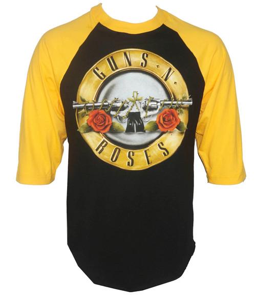 Guns N Roses Bullet Raglan Baseball Shirt