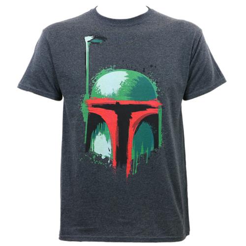 Star Wars Boba Brush T-Shirt Charcoal Heather